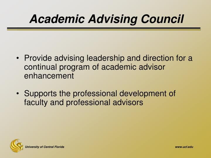 Academic Advising Council