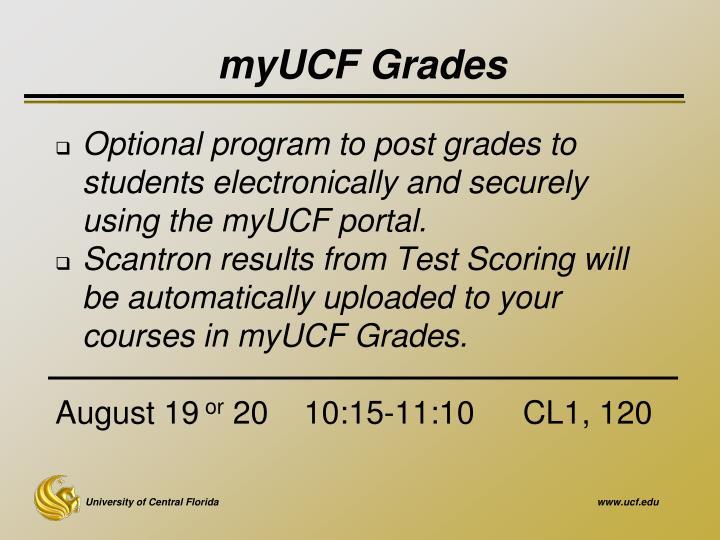 myUCF Grades