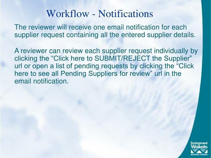 Workflow - Notifications