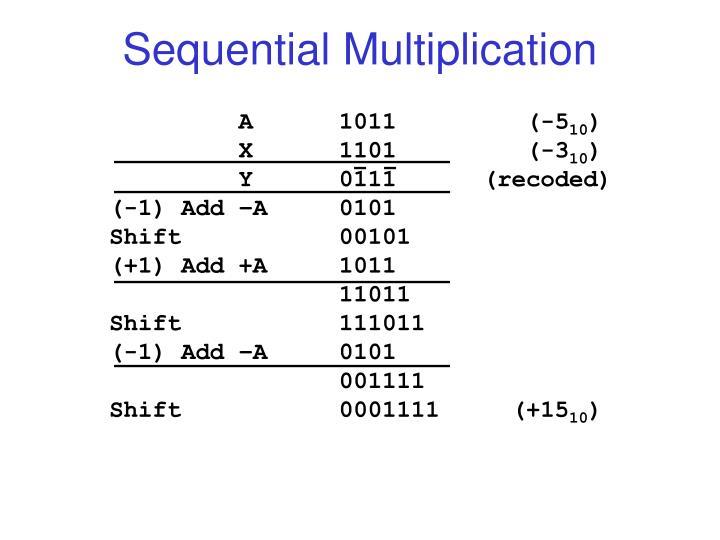 Sequential Multiplication