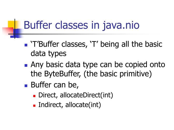 Buffer classes in java.nio