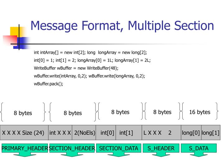 Message Format, Multiple Section