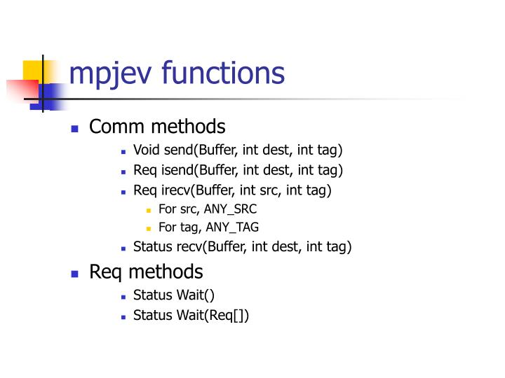 mpjev functions