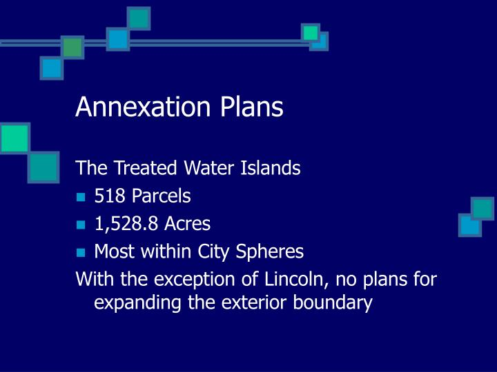 Annexation Plans