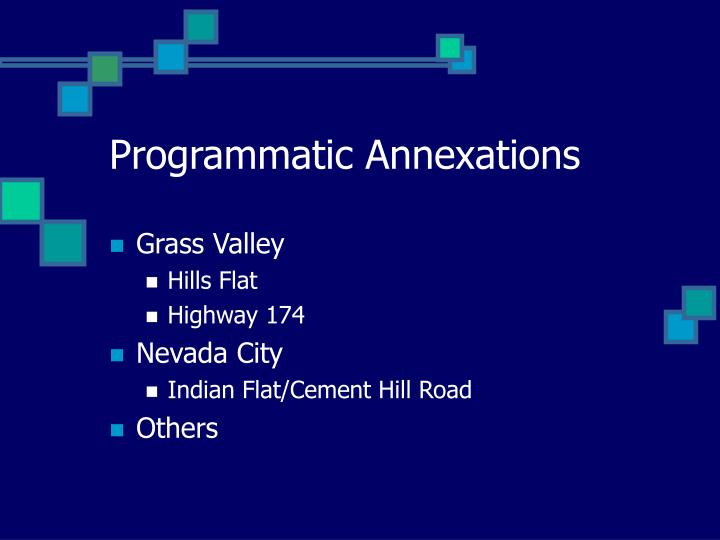 Programmatic Annexations