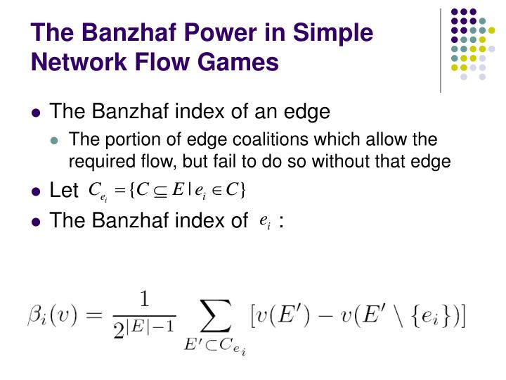 The Banzhaf Power in Simple Network Flow Games