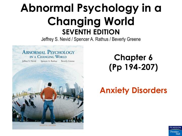 chapter 6 pp 194 207 anxiety disorders