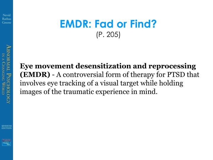 EMDR: Fad or Find?