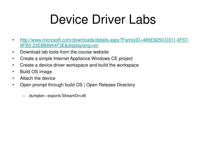 Device Driver Labs