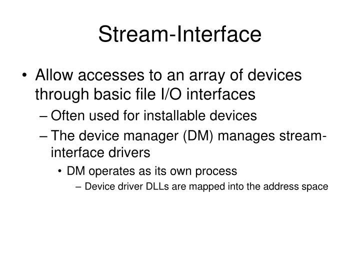 Stream-Interface