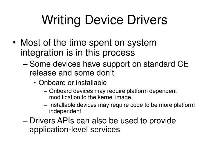 Writing Device Drivers