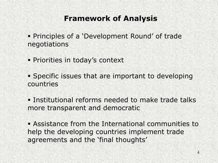 Framework of Analysis