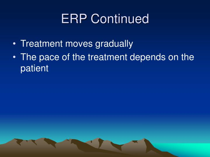ERP Continued