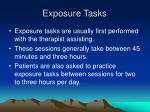 exposure tasks