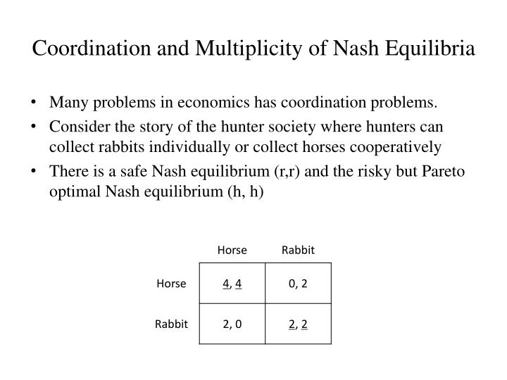 Coordination and Multiplicity of Nash Equilibria