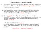 formulation continued