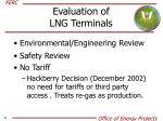 evaluation of lng terminals
