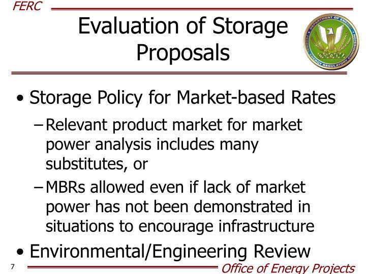 Evaluation of Storage