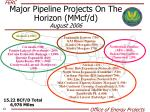 major pipeline projects on the horizon mmcf d august 2006