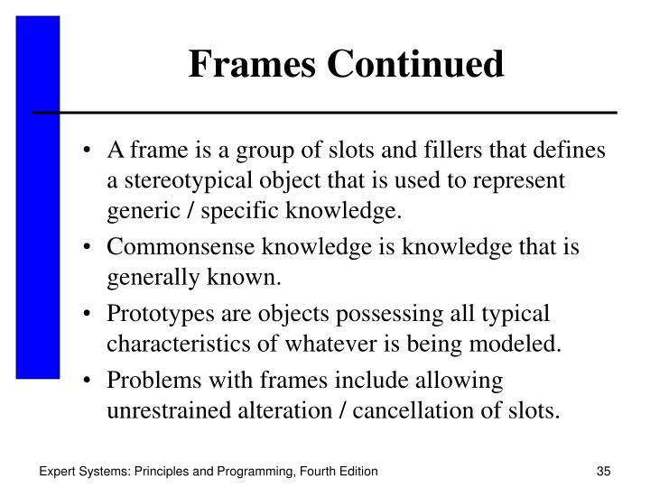 Frames Continued