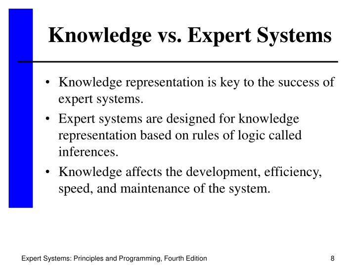 Knowledge vs. Expert Systems
