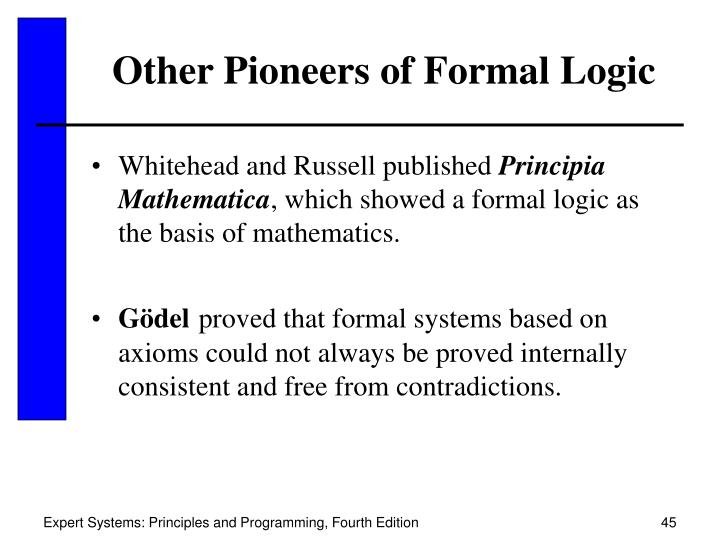 Other Pioneers of Formal Logic