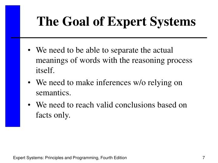 The Goal of Expert Systems