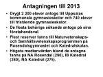 antagningen till 2013