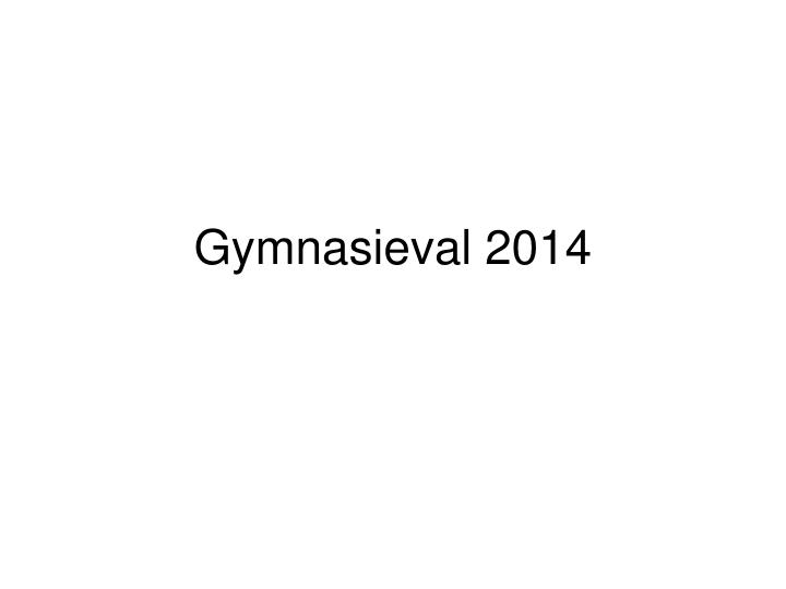 gymnasieval 2014