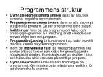 programmens struktur