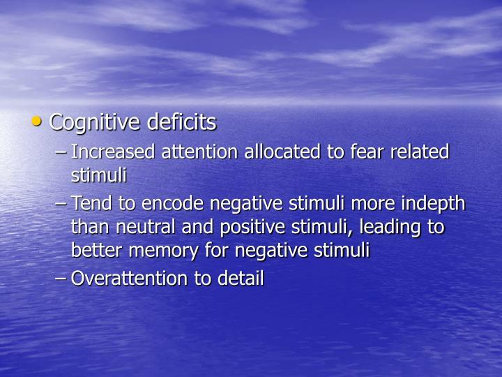 Cognitive deficits