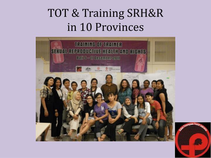 TOT & Training SRH&R