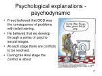 psychological explanations psychodynamic