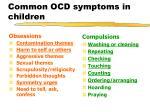 common ocd symptoms in children
