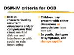 dsm iv criteria for ocd