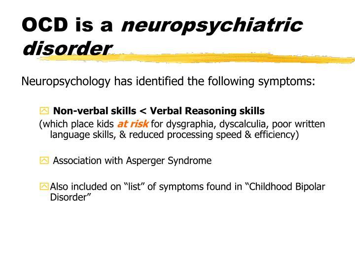OCD is a