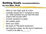 setting goals recommendations by lee baer ph d
