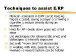 techniques to assist e rp1