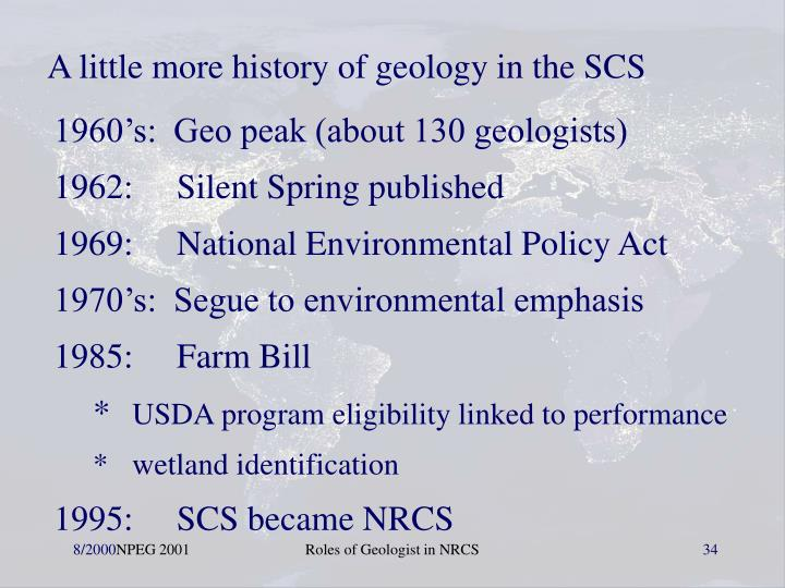 A little more history of geology in the SCS