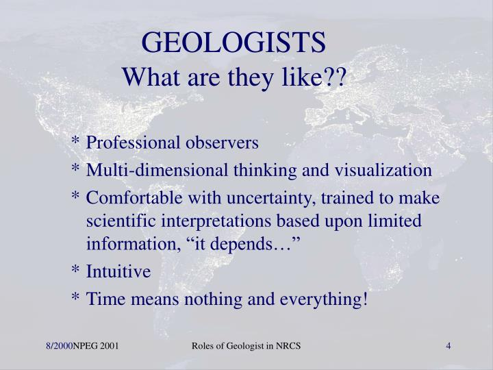 GEOLOGISTS