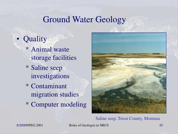 Ground Water Geology