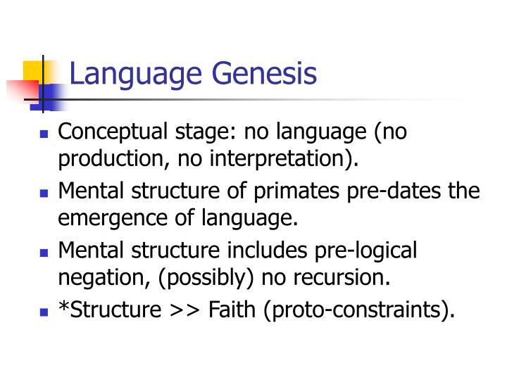 Language Genesis