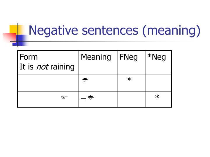 Negative sentences (meaning)