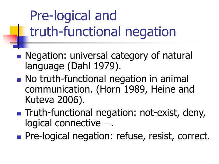 Pre-logical and