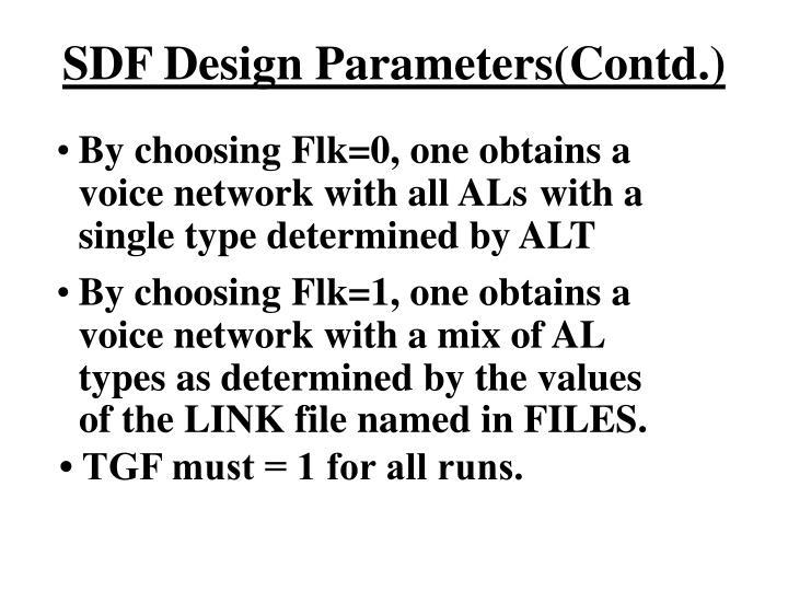 SDF Design Parameters(Contd.)
