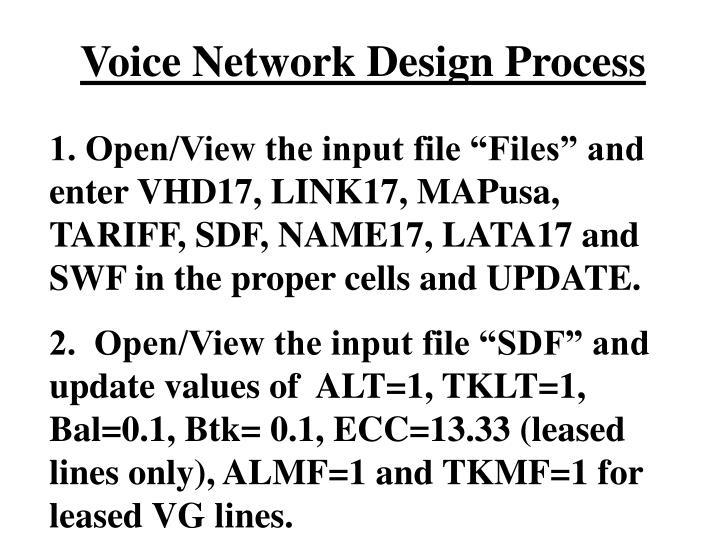 Voice Network Design Process