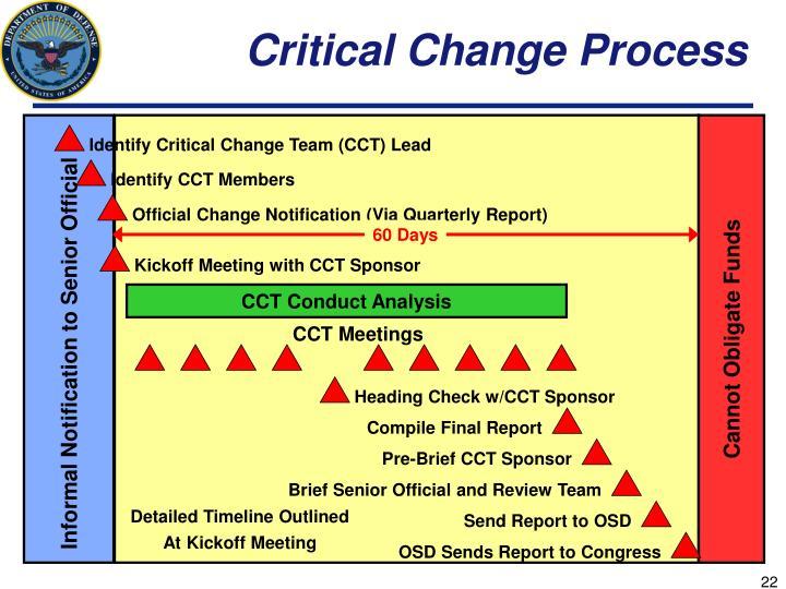 Critical Change Process