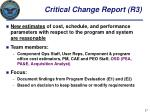 critical change report r3