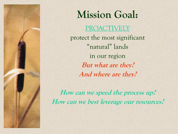 Mission Goal: