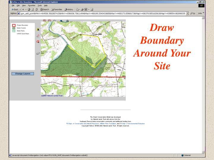 Draw Boundary Around Your Site